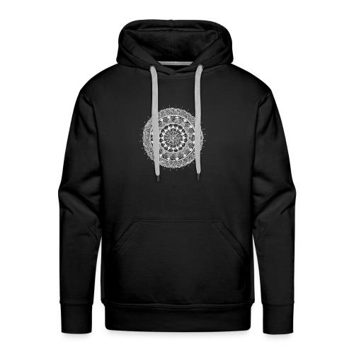 mandala white - new art - Men's Premium Hoodie