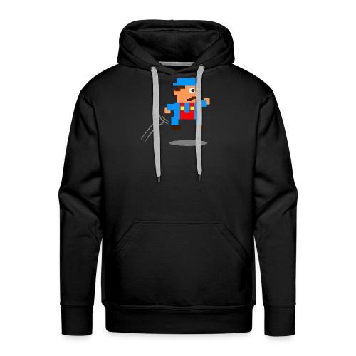 Blue Guy Jumping - Men's Premium Hoodie