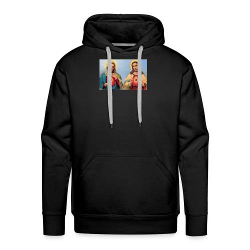 Sacred Heart Jesus and Mary - Men's Premium Hoodie