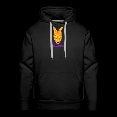 Kangaroozoo1 Logo & Name - Men's Premium Hoodie