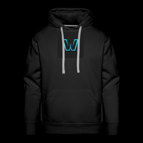 DoubleU Black Non-Transparent - Men's Premium Hoodie
