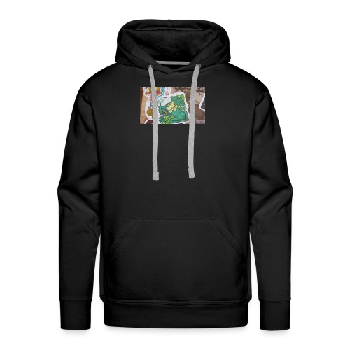 Sticker tag swetters and t shirts and hoodies - Men's Premium Hoodie