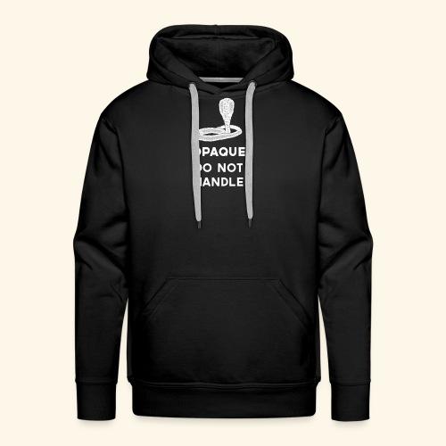 Opaque Do Not Handle - Men's Premium Hoodie