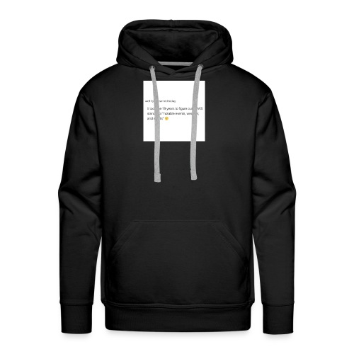 Idk, I just didn't notice lol - Men's Premium Hoodie