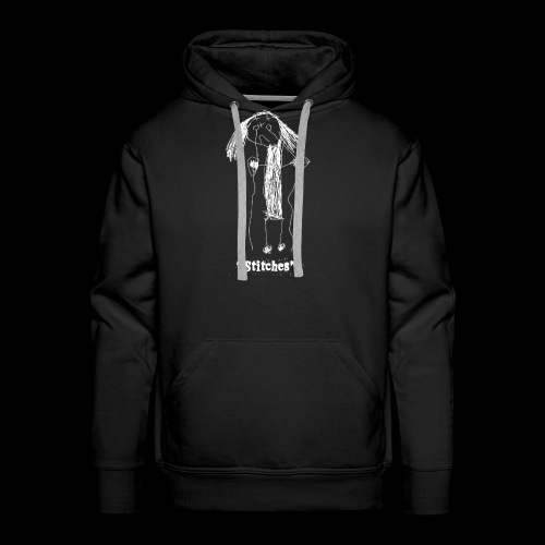 E-Wear: Stitches (in white) - Men's Premium Hoodie