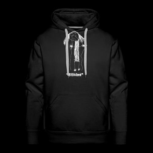 E-Wear: Stitches (in white) - Men's Premium Hoodie