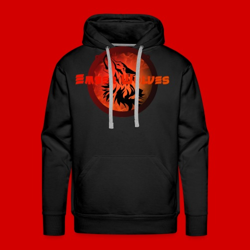 Classic Ember Wolves Logo - Men's Premium Hoodie