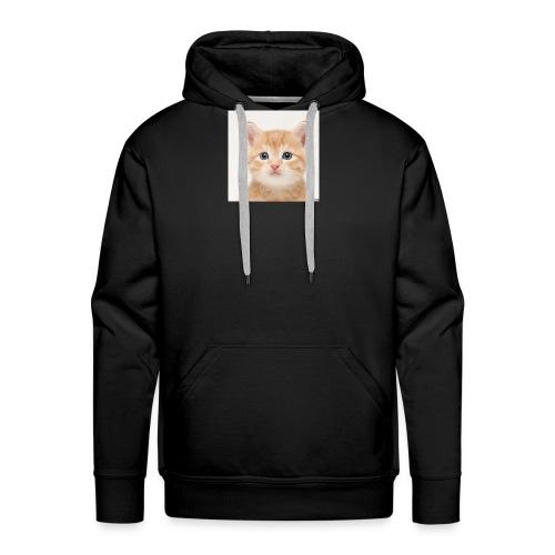 the great cute cat shirt - Men's Premium Hoodie