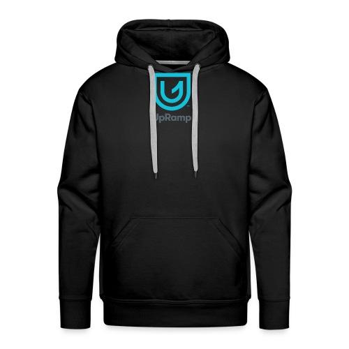 UpRamp Logo Blue Stacked ColorWhite - Men's Premium Hoodie