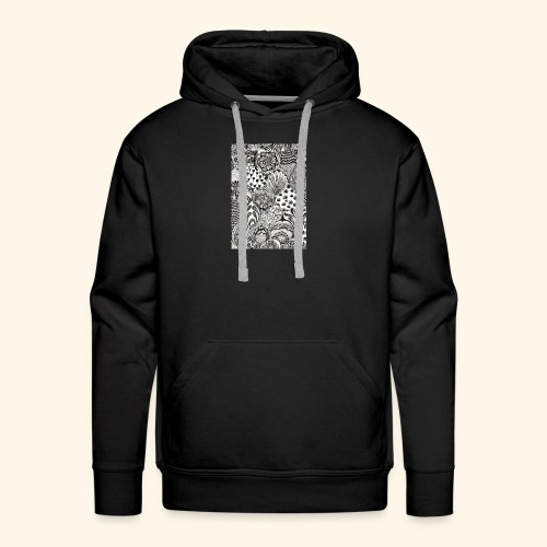 Black and white tigerprint - Men's Premium Hoodie