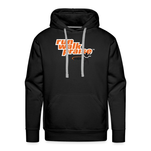 Run, Walk, Praise Fitness Shirt - Orange - Men's Premium Hoodie