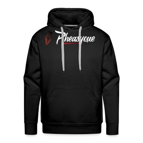 Original White Pheasyque Logo - Men's Premium Hoodie