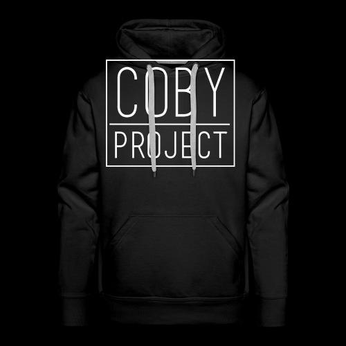 coby logo white - Men's Premium Hoodie