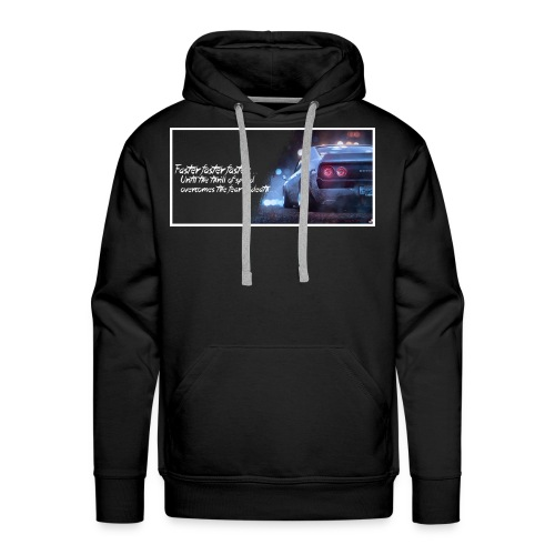 Skyline - Thrill of speed BLACK - Men's Premium Hoodie