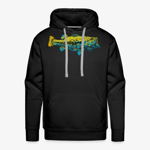 GOLD AND BLUE BASS - Men's Premium Hoodie
