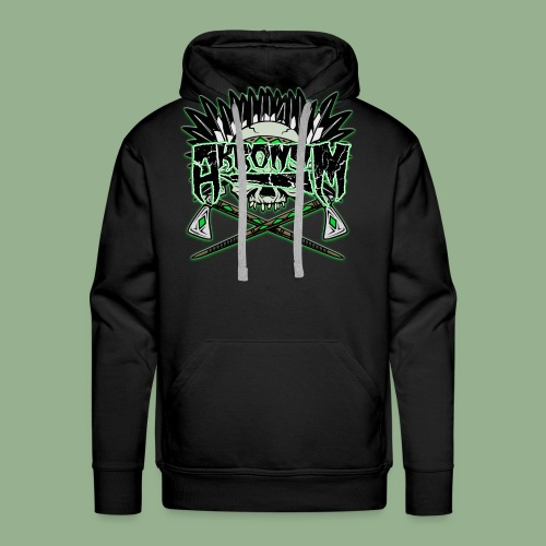 Akronym Skull and Logo - Men's Premium Hoodie