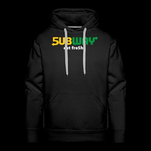 5ubway Print - Men's Premium Hoodie