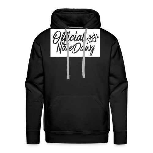 Official NateDawg Black White Covered Merch - Men's Premium Hoodie