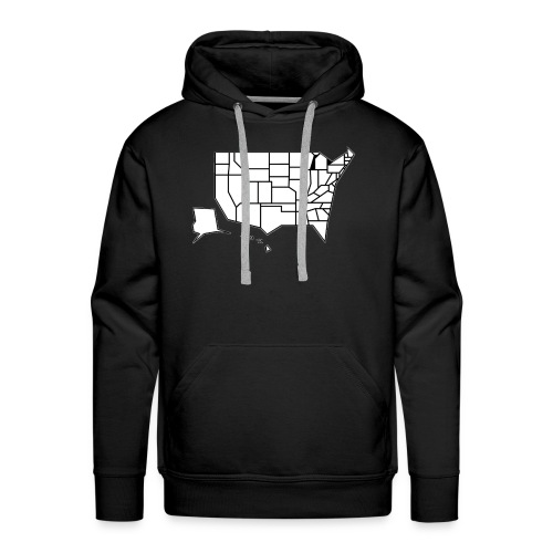 Straight Map - Men's Premium Hoodie