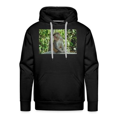 the monkey picture - Men's Premium Hoodie