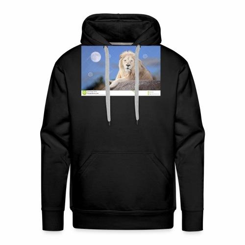 white lion moon light 62073026 - Men's Premium Hoodie
