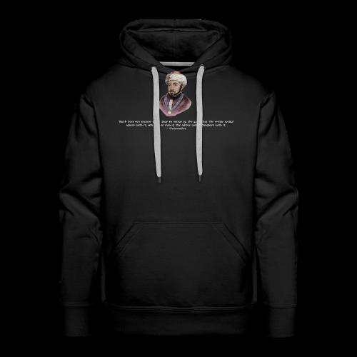 Maimonides shirt T-shirt jewish torah rabbi - Men's Premium Hoodie