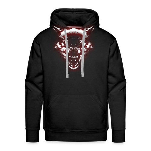Angry Wolf - Men's Premium Hoodie