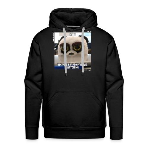 Crypto Panda Is Watching (Crypto Series) - Men's Premium Hoodie