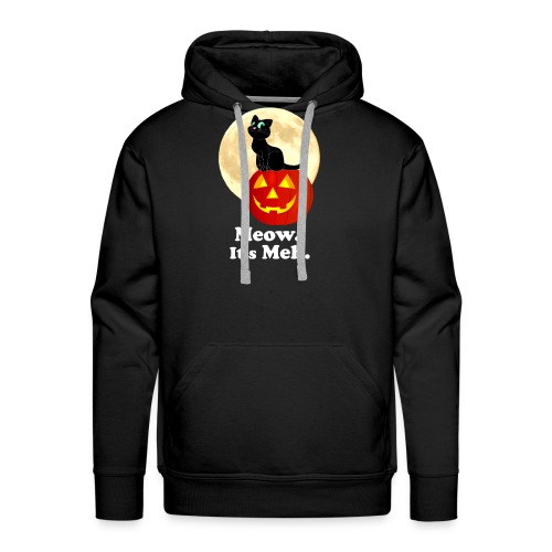 Black Cat Pumpkin Funny Halloween Gifts Ideas - Men's Premium Hoodie