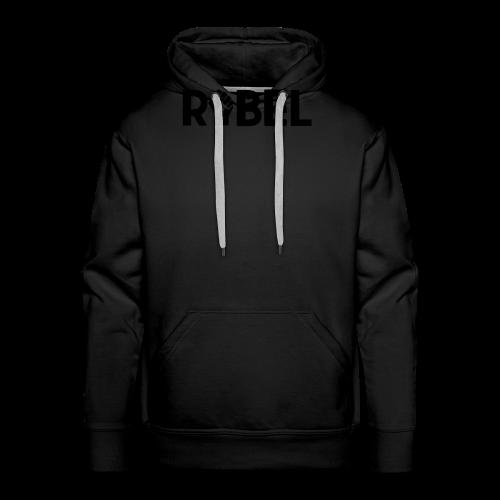 Black Rebel Text - Men's Premium Hoodie