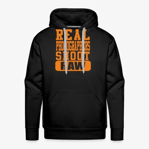 Real Photgs Orange - Men's Premium Hoodie