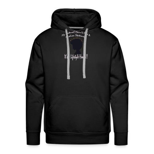 Natural Life Style - Black & Light Pink - Men's Premium Hoodie