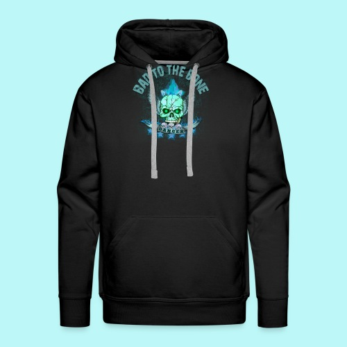 Bad to the bone blue hoodie - Men's Premium Hoodie