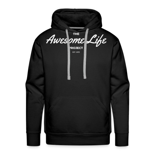 The AwesomeLife Project Logo White - Men's Premium Hoodie