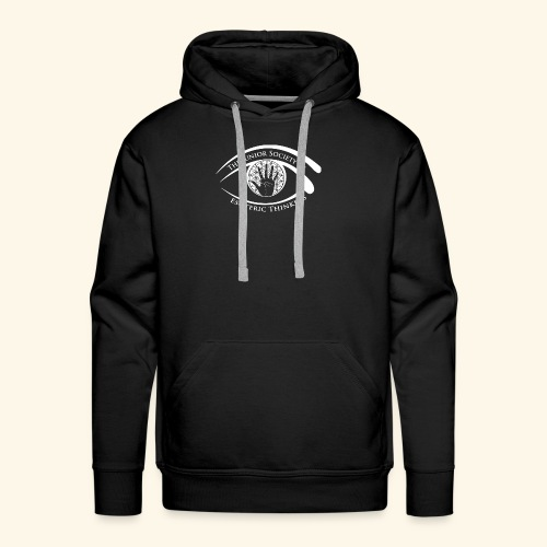 Society of Esoteric Thinkers white logo - Men's Premium Hoodie