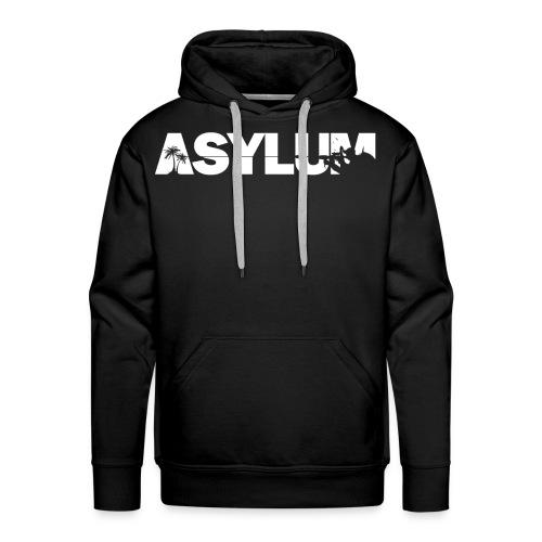 Asylum Logo white - Men's Premium Hoodie