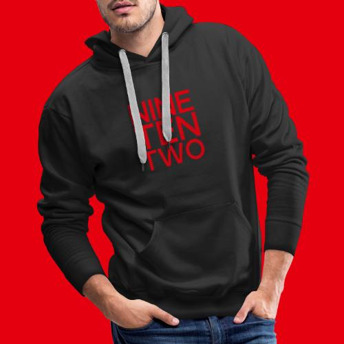 Red NineTenTwo Logo Text - Men's Premium Hoodie