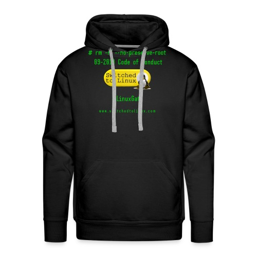 rm Linux Code of Conduct - Men's Premium Hoodie