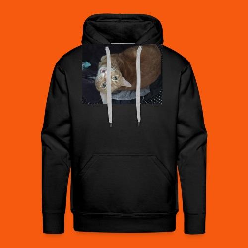 Funny Orange Cat - Men's Premium Hoodie