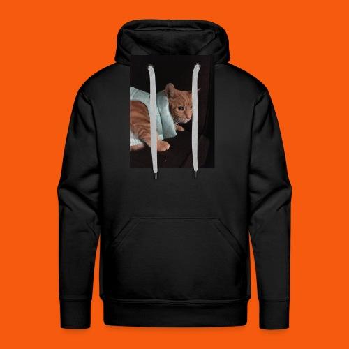 Trendy Orange Cat - Men's Premium Hoodie