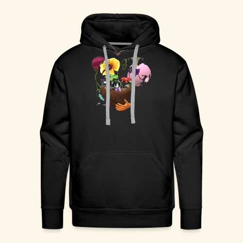 Hugo in space - Men's Premium Hoodie
