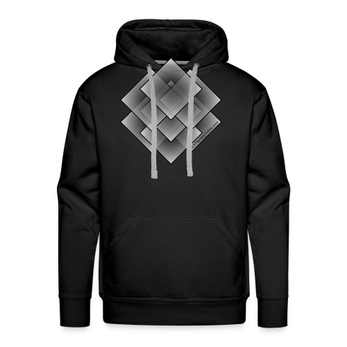 Seven Square - Grey Fill - NEXTfactoryOnline.com - Men's Premium Hoodie