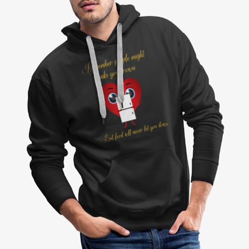 Remember Food Never Lets You Down - Men's Premium Hoodie