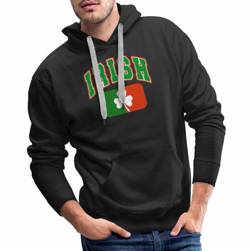 Vintage Irish Flag Shirt St Patricks Day Shamrock - Men's Premium Hoodie