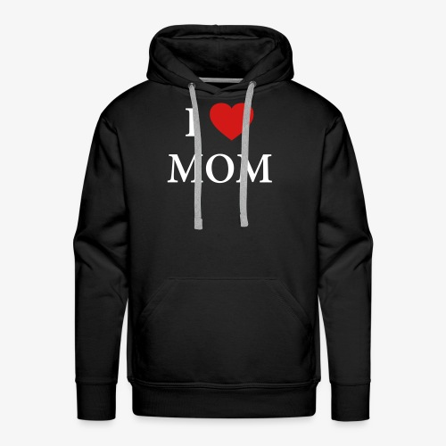I LOVE DAD – HEART - Men's Premium Hoodie