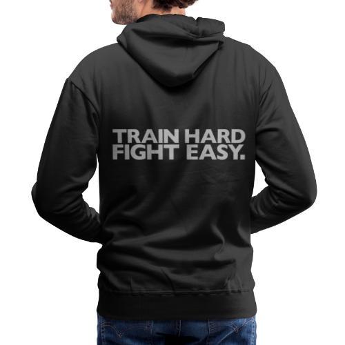 Train Hard Gym Motivation - Men's Premium Hoodie
