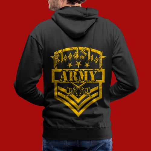 BloodShot ARMY Logo - Men's Premium Hoodie