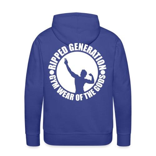 Ripped Generation Gym Wear of the Gods Badge Logo - Men's Premium Hoodie