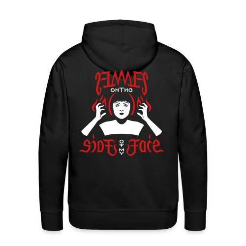 Flames on the Sides of my Face - Men's Premium Hoodie