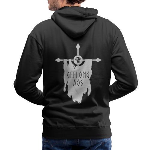 Geelong AOS - DESTRUCTION BLACK - Men's Premium Hoodie